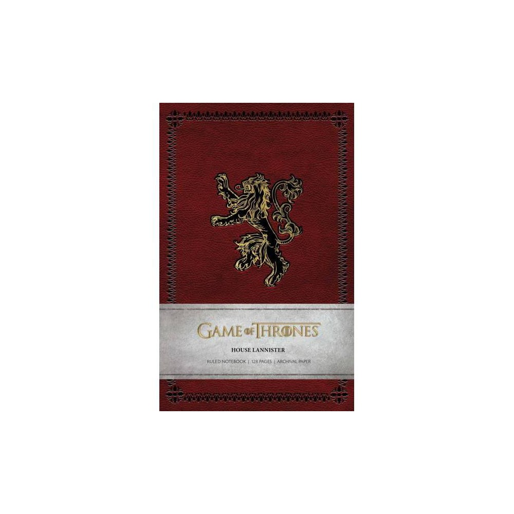 House Lannister Ruled Notebook - (Game of Thrones) (Paperback)