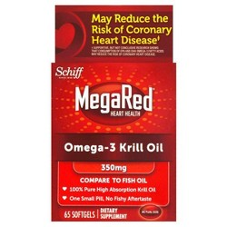 MegaRed Omega-3 Krill Oil Dietary Supplement Softgels - 65ct