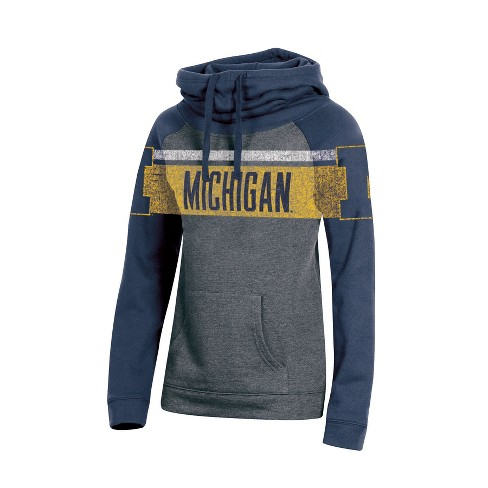 f68c8e6b Michigan Wolverines Women's Cowl Neck Hoodie : Target