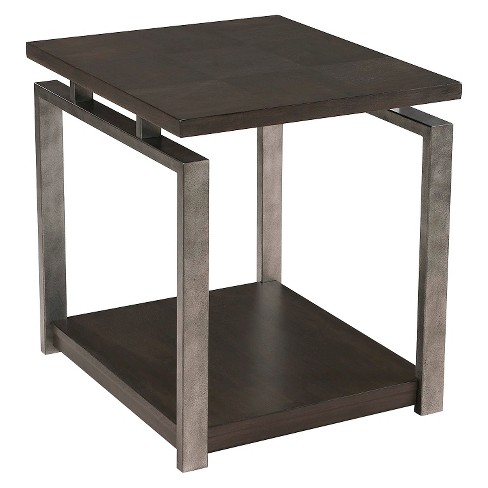 Alton Rectangular End Table Platinum Charcoal - Magnussen Home - image 1 of 1