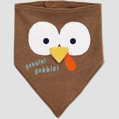 Baby Thanksgiving Turkey Bib - Just One You® made by carter's Brown