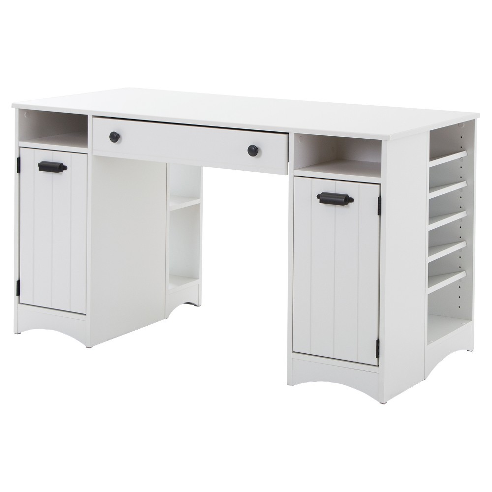 Image of Artwork Craft Table with Storage White - South Shore