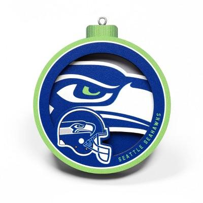 3D Seattle Christmas Ornament