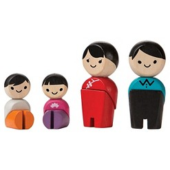 PlanToys Family - Asian, doll playsets