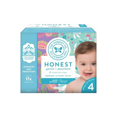 The Honest Company Disposable Diapers Sliced Fruit & Bunnies - Size 4 - 60ct