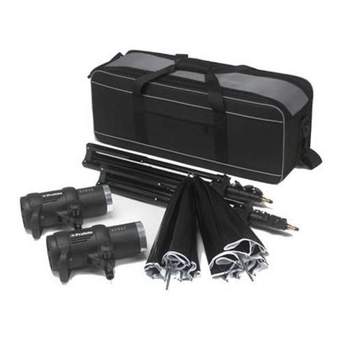 Profoto D1 1000/1000 Air Studio Kit, with 2 D1 1000 Watt Second Monolights, Umbrellas, Lightstands & Case (Air Remote not included) - image 1 of 1