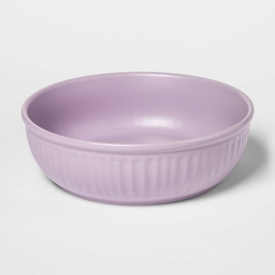 42oz Stoneware Dinner Bowl Purple - Threshold™