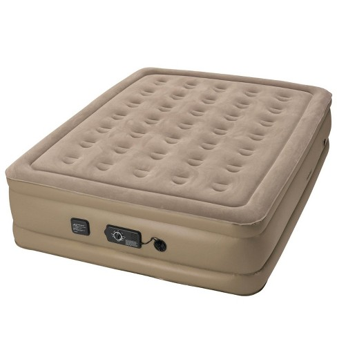 Insta-Bed Raised Inflatable Queen Air Bed Mattress with neverFlat Pump, Beige - image 1 of 4