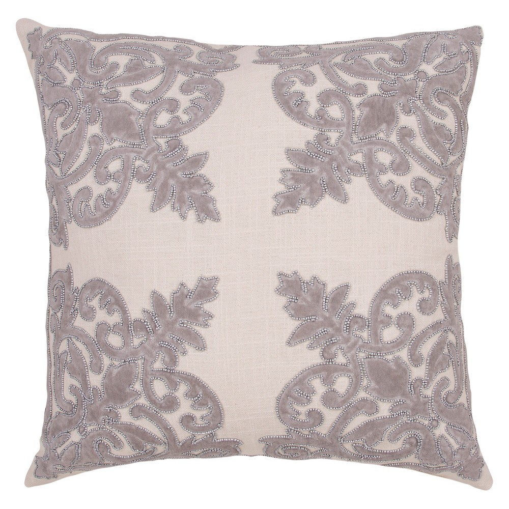 Gray Inspired By Jennifer Adams Throw Pillow (22