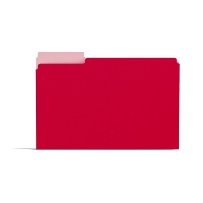 MyOfficeInnovations Colored File Folders 1/3-Cut Tab Letter Size Red 100/Box (224519)
