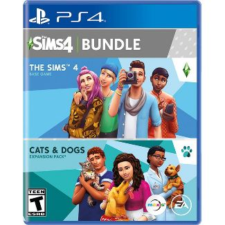The Sims 4 Bundle: The Sims 4 with Cats & Dogs Expansion Pack - PlayStation 4