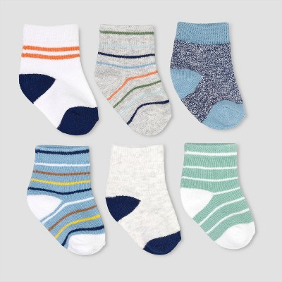 Baby Boys' 6pk Lovebug Crew Socks Casual socks - Just One You® made by carter's 0-3M