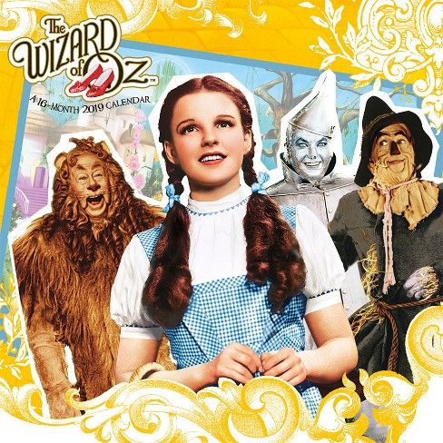 2019 the wizard of oz wall calendar