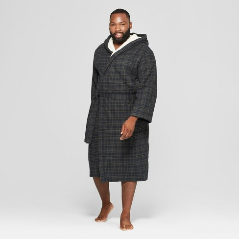 Men s Big   Tall Plaid Sherpa Robe - Goodfellow   Co™ Forest Green ... 8bcc2c66d