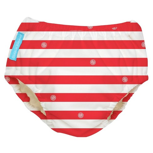 Charlie Banana Reusable Swim Diaper - Red Stripe (Select Size) - image 1 of 1