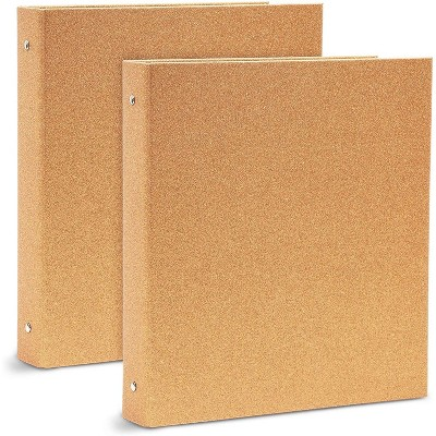 """Paper Junkie 2-Pack Glitter Rose Gold 3-Ring Binder 1.8"""", Cute Office Accessories, for Letter Sized Pages"""