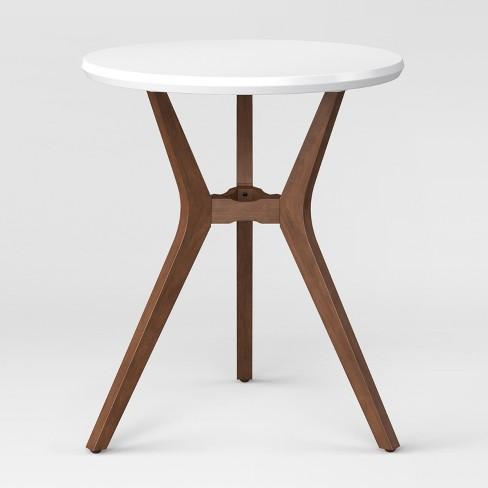 Emmond Mid Century Round Bistro Table White Project Target - Mid century modern bistro table