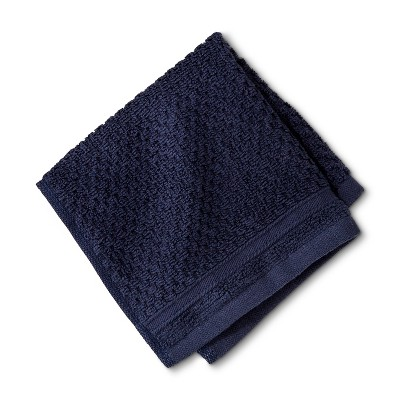Washcloth Performance Texture Bath Towels And Washcloths Xavier Navy - Threshold™