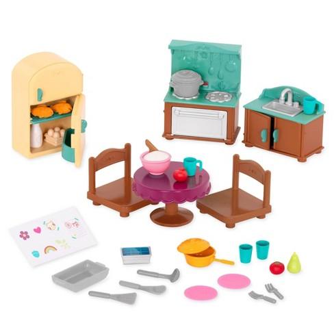 Li L Woodzeez Miniature Furniture Playset 30pc Country Kitchen Set Target