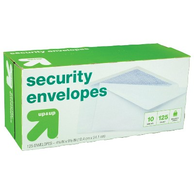 """125ct 4"""" x 9.5"""" Security Envelopes White - up & up™"""