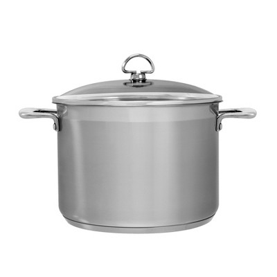 Chantal Induction 21 Steel 8qt Stainless Steel Stockpot with Glass Lid