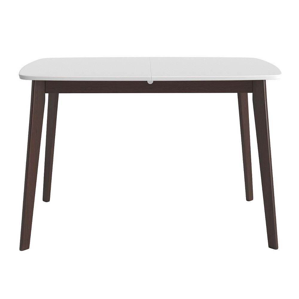 Aldo Extension Dining Table - White and Walnut - Aeon