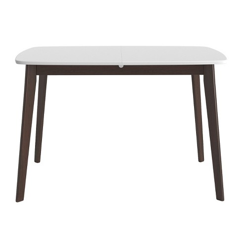 Aldo Extension Dining Table - White and Walnut - Aeon - image 1 of 4