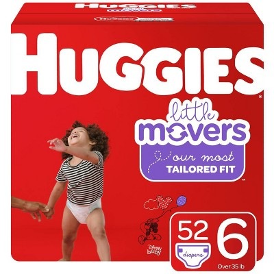 Huggies Little Movers Diapers - Size 6 (52ct)