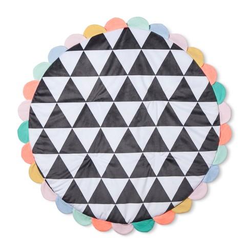 Activity Circle Playmat Geo Bright - Cloud Island™ Performance Gray - image 1 of 3