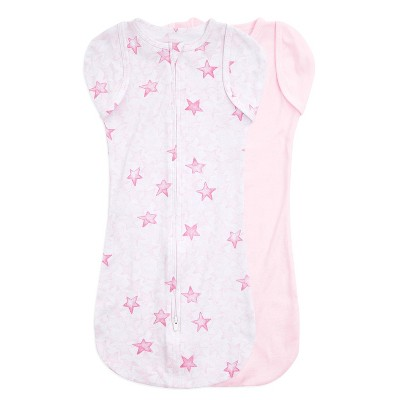 Aden + Anais Essentials Snug Swaddle Twinkle Stars 0-3 Months 2pk