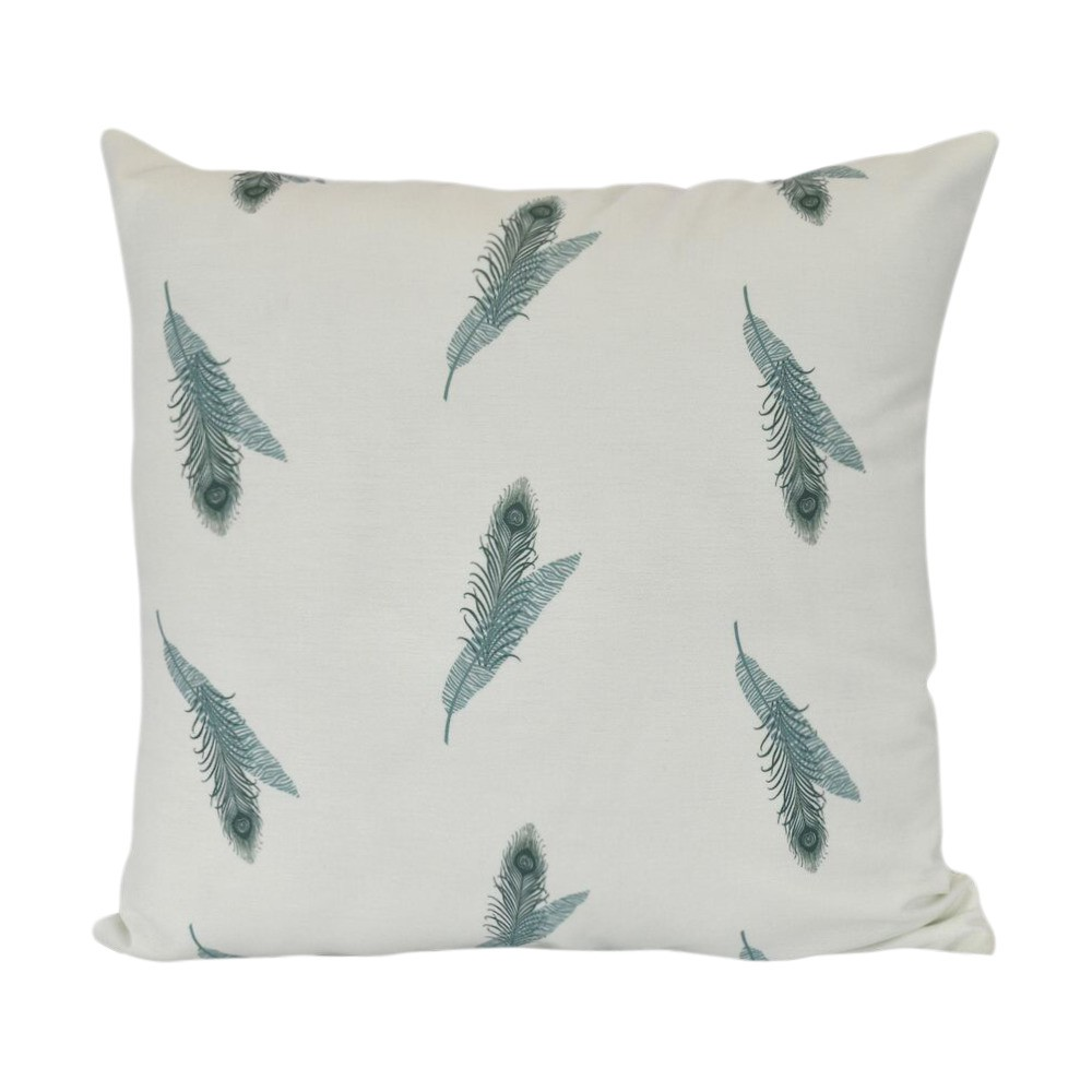 "Image of ""Green/White Stripe Floral Print Pillow Throw Pillow (16""""x16"""") - E by Design"""