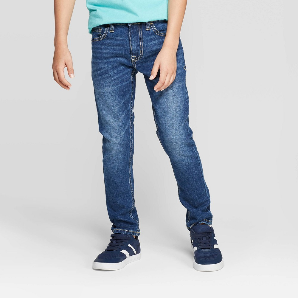 Boys 39 Stretch Taper Fit Jeans Cat 38 Jack 8482 Dark Wash 5