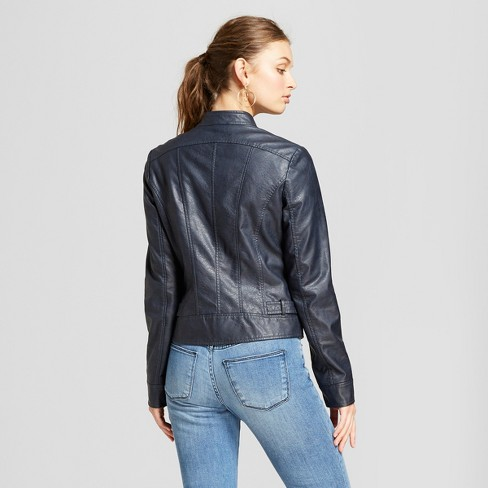 d51bfd951a3fc Women s Moto Jacket - A New Day™ Navy   Target