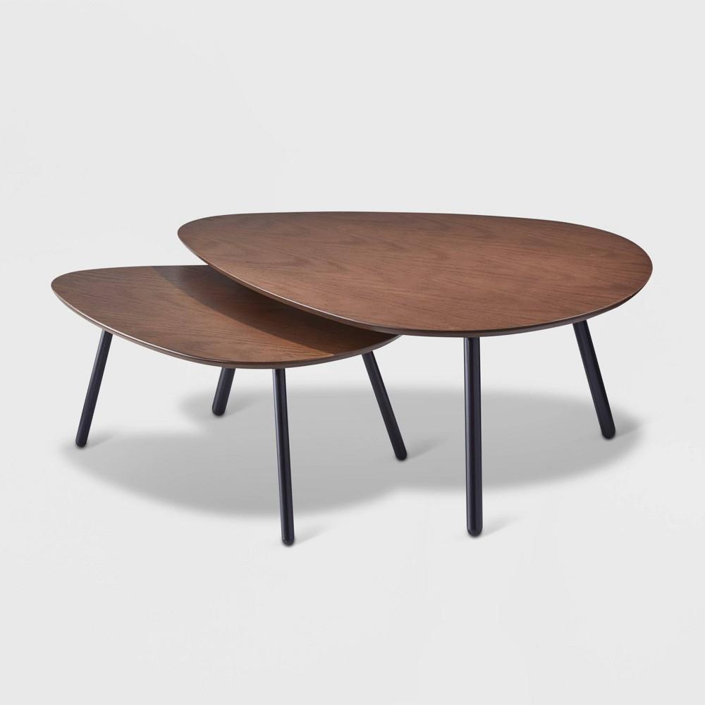 Hendrix Nesting Coffee Table Antique Wood - Adesso