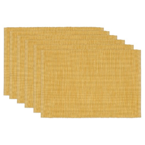 Yellow Tonal Placemat Mustard (Set Of 6) - Design Imports - image 1 of 1