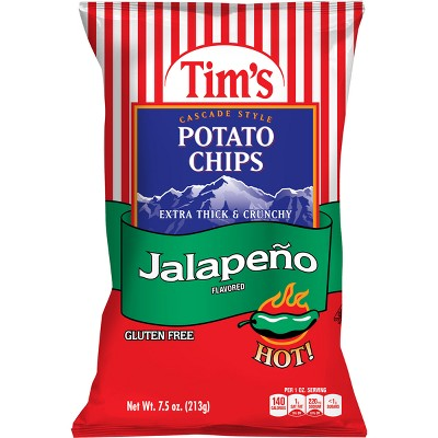Tim's Jalapeno Flavored Extra Thick & Crunchy Potato Chips - 7.5oz