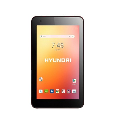 """Hyundai Koral 7"""" Tablet 7W4X 1GB 16GB 2MP/2MP Wifi Android 9.0 GO Red"""