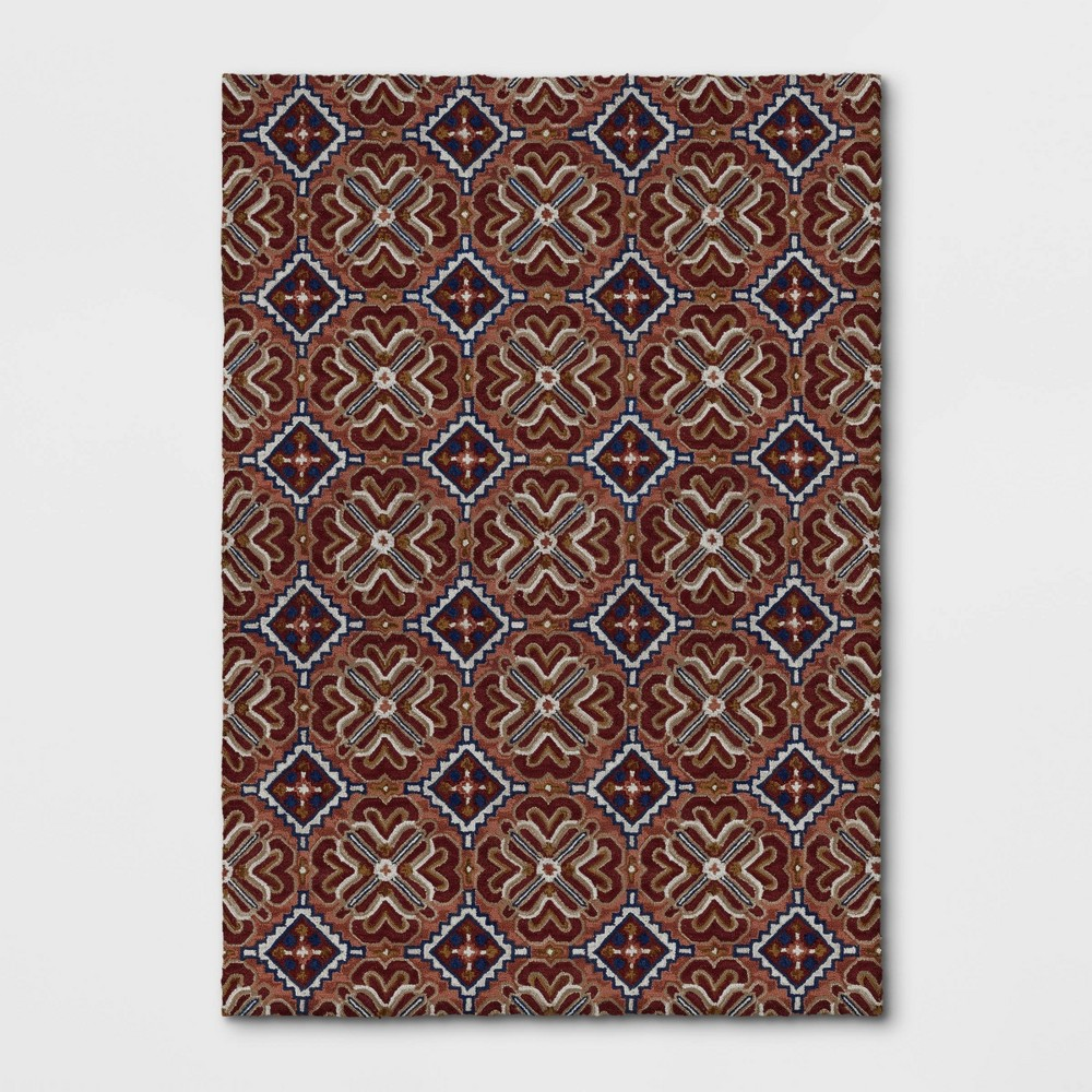 7'X10' Orosia Hand Tufted Rug Coral Red - Threshold was $399.99 now $199.99 (50.0% off)