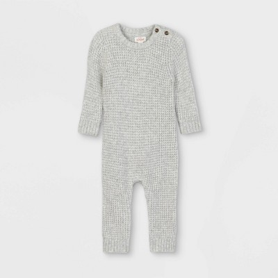 Baby Sweater Jumpsuit - Cat & Jack™ Gray 0-3M