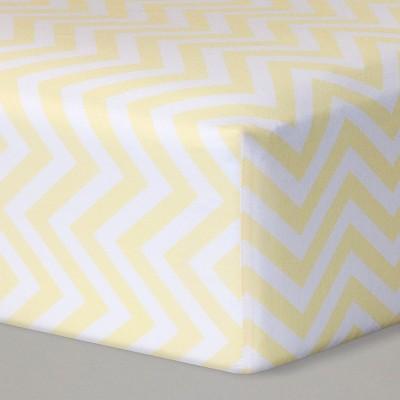 Fitted Crib Sheet Chevron - Cloud Island™ - Yellow/White