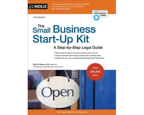 Small Business Start-Up Kit : A Step-by-Step Legal Guide -  by Peri H. Pakroo (Paperback) - image 1 of 1
