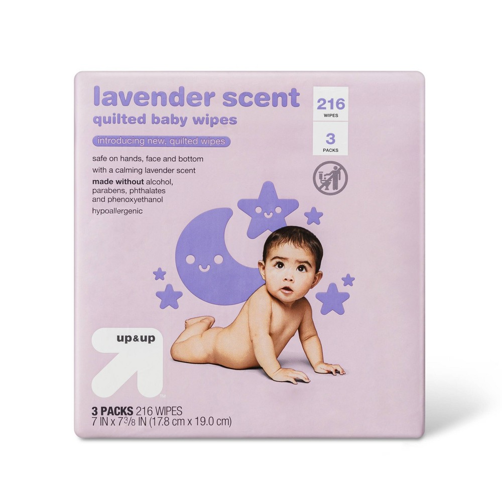 Lavender Baby Wipes 216ct Up 38 Up 8482