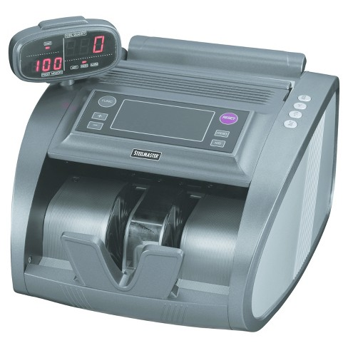 SteelMaster® 4820 Bill Counter with Counterfeit Detection, 1200 Bills/Min, Charcoal Gray - image 1 of 1