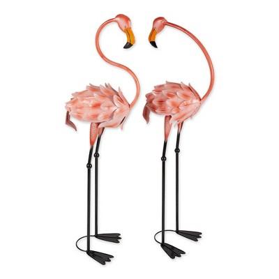 "42"" Wrough Iron Flamboyant Flamingo Garden Stake Pink - Zingz & Thingz"