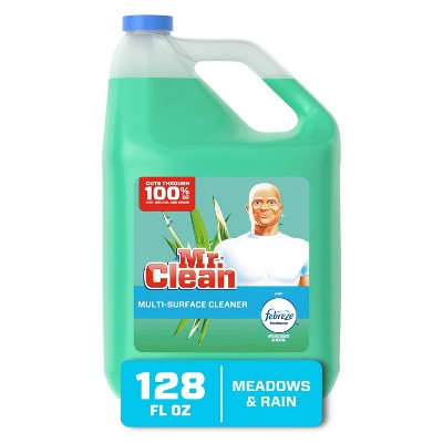 Mr. Clean Multi Surface Cleaner with Febreze Freshness - Meadows & Rain - 128 fl oz
