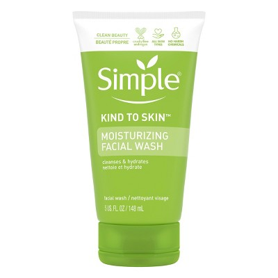 Facial Cleanser: Simple Kind to Skin Moisturizing Facial Wash