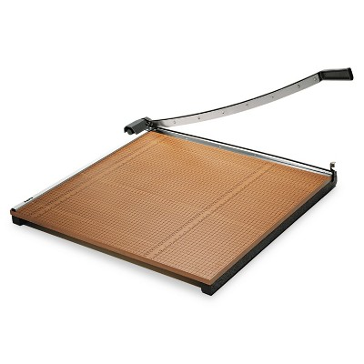 """X-Acto Square Commercial Grade Wood Base Guillotine Trimmer 20 Sheets 30"""" x 30"""" 26630"""