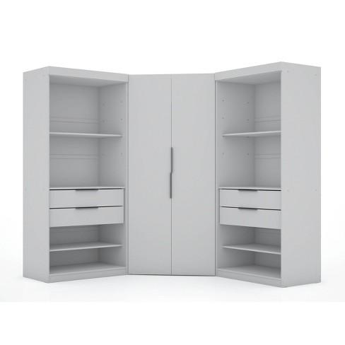 Set of 3 Mulberry Semi Open 3 Sectional Corner Closet  - Manhattan Comfort - image 1 of 4