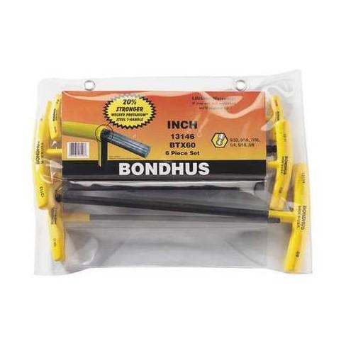 BONDHUS 13146 6 Pc. SAE Ball End T Ergonomic T-Handle Hex Key Set - image 1 of 1