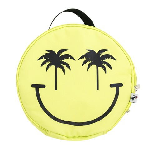 Yoobi Smiley Face Lunch Bag Yellow